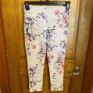 SZ SM DKNY floral leggings